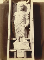 Statue of Buddha from Mala Tangi, Peshawar District